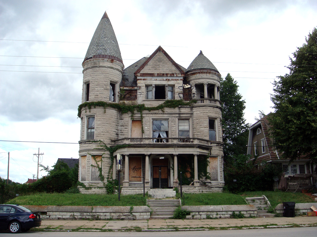 Abandoned Mansions For Sale Cheap Ouerbacker House Falling Down Broken Sidewalk