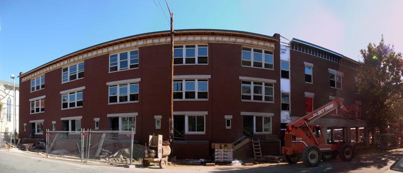 Brick Finished on Shelby Street