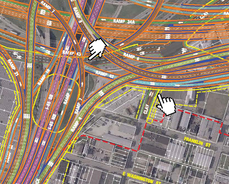 Interstate 65 Entering Spaghetti Junction