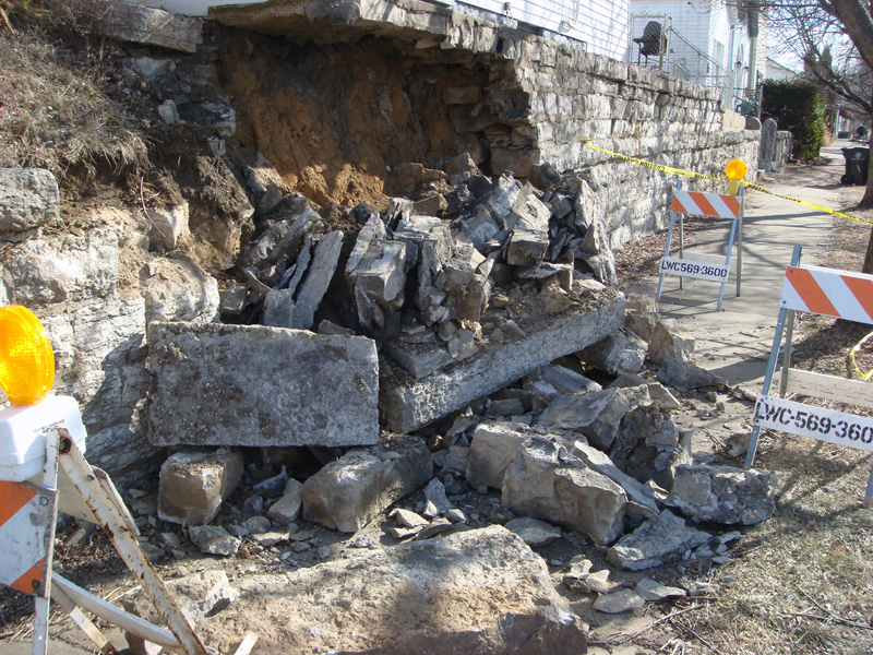 Stone Wall Collapses In Irish Hill