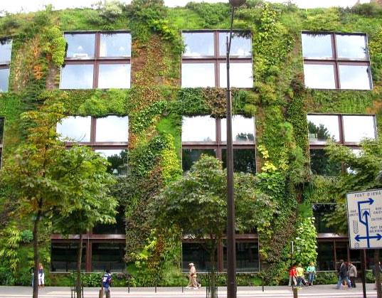 Green Facade of the Quai Branly Museum