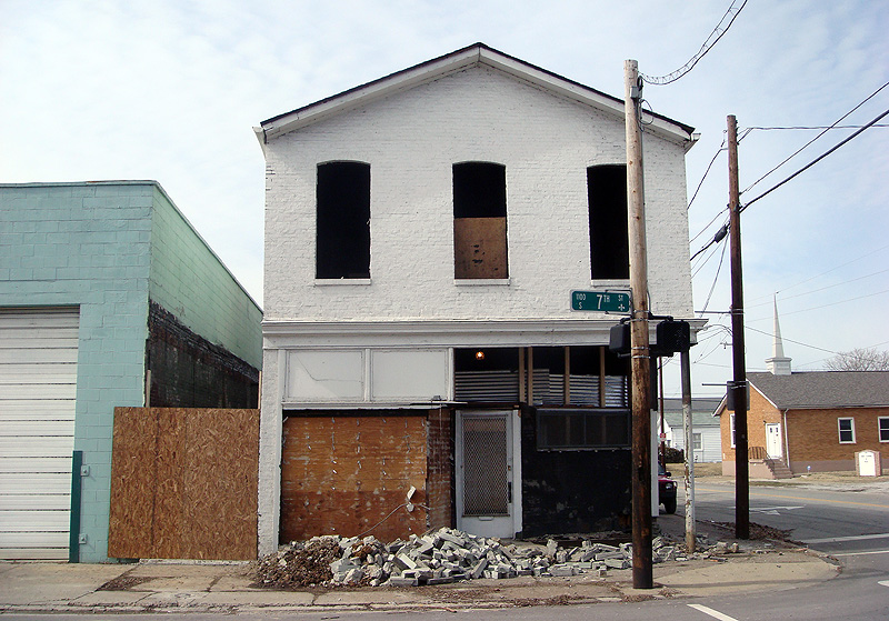 Commercial building under renovation
