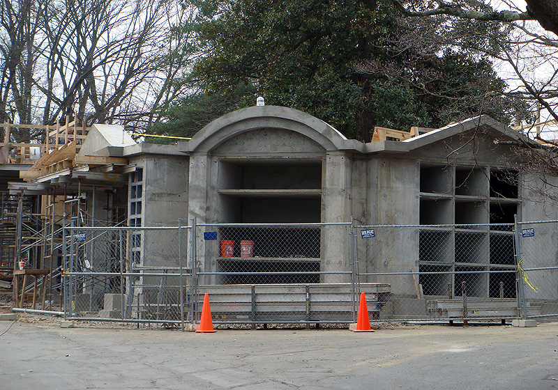 Stone mausoleum offers urban grave sites at cave hill Mausoleum design