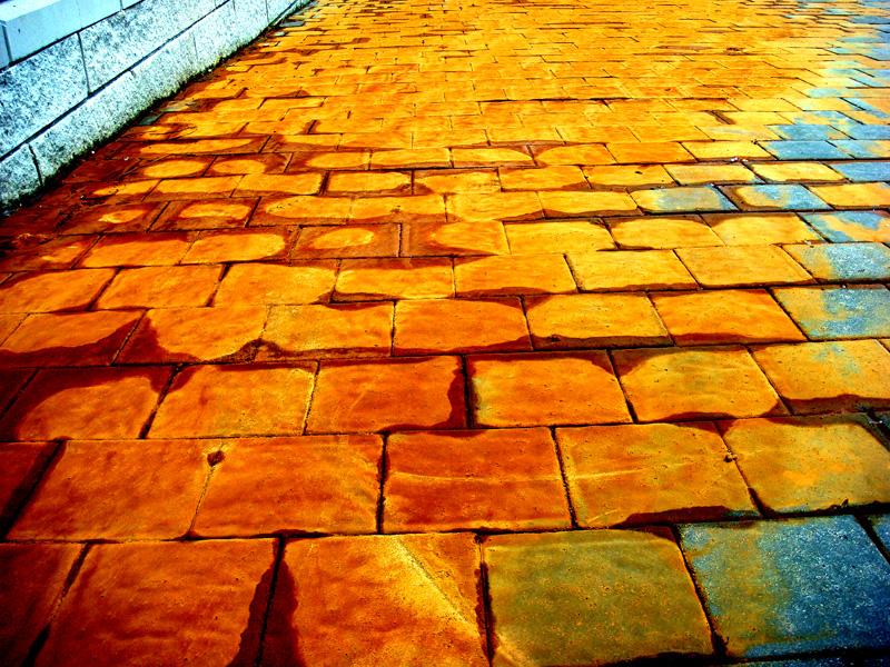 volim narančasto Orange_sidewalk_03