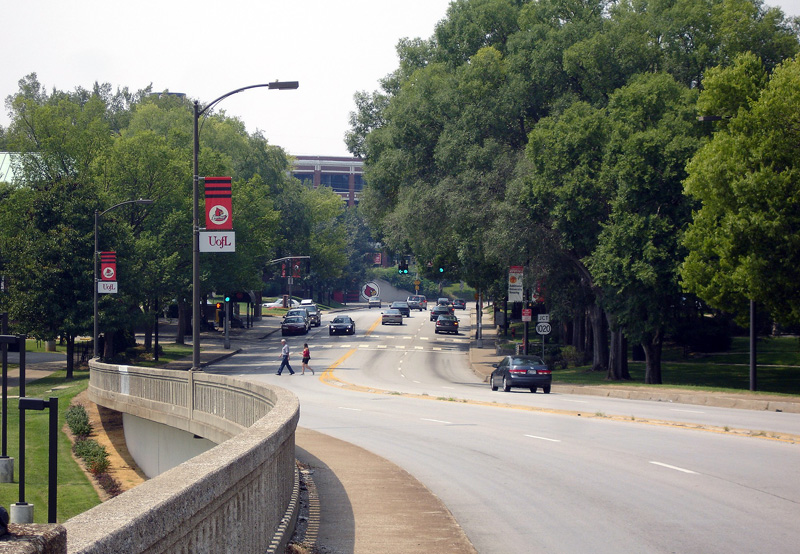 Eastern Parkway Bridge toward University of Louisville