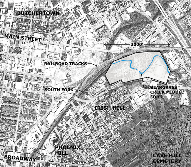 Competition site in context (image courtesy IHNA)