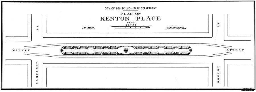 Original Olmsted Plan of Keaton Place (courtesy Bingham Fellows)