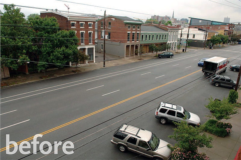Current conditions on East Market Street (cortesy Bingham Fellows)