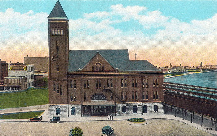 Old 7th Street Rail Station (BS File Postcard)