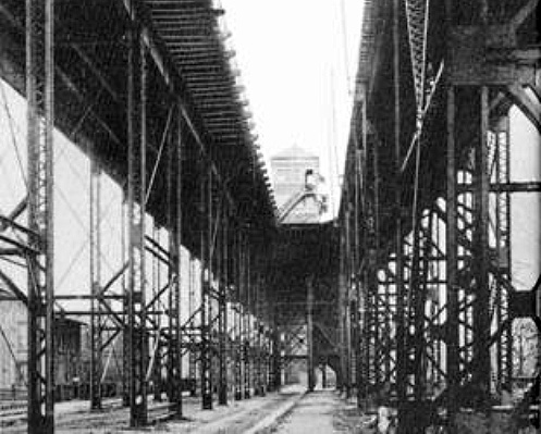 Elevated tracks of Big Four Bridge in Jeffersonville (courtest R.D. Schooling)