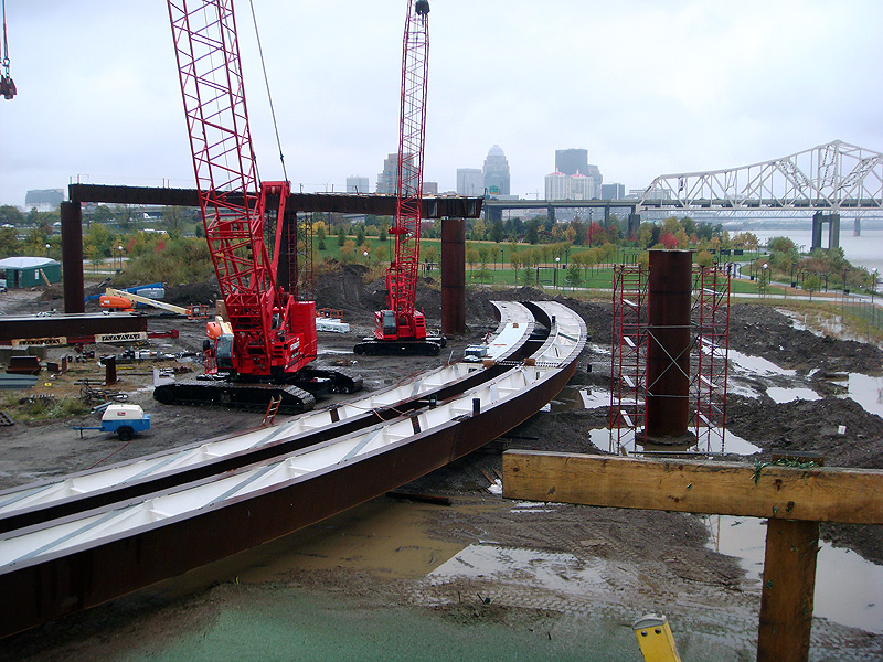 Big Four Bridge Construction Site
