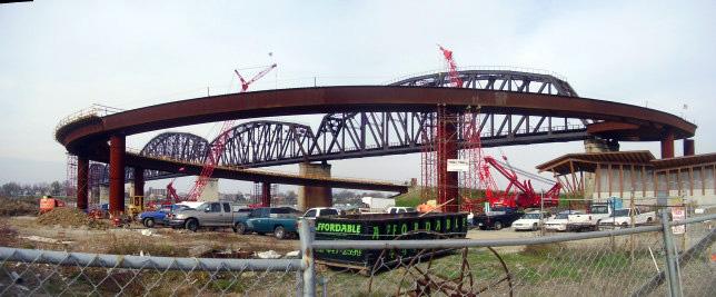 Big Four Bridge Construction (Photo courtesy Steve Wiser)