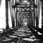 Historic view of the Big Four Bridge (courtesy R.D. Schooling)