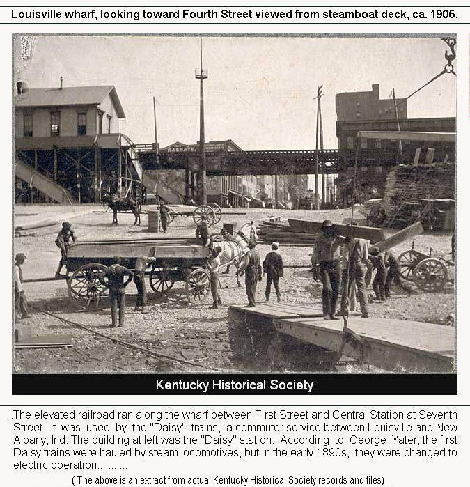 Louisville Wharf toward Fourth Street circa 1905, Kentucky Historical Society
