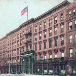 Louisville Hotel on West Main Street (BS File Postcard)