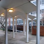Interior courtyard at Spalding University