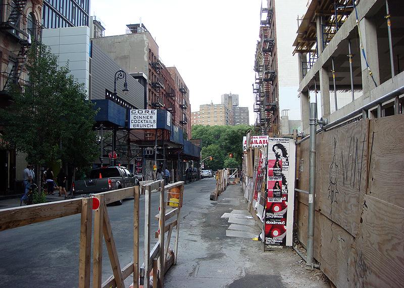 Construction sidewalk in Manhattan