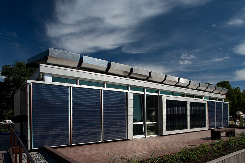 Sky Blue solar house (Photo by DOE Solar Decathlon)