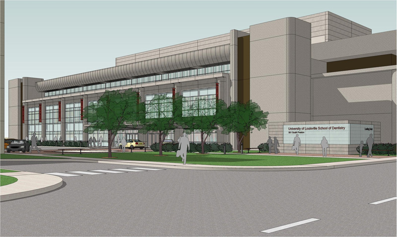 Rendering of changed to UL School of Dentistry (Courtesy U of L)