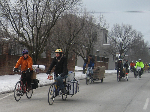 Moving by bike (Photo by Kirk Kandle/kirkwrites/flickr via CART)