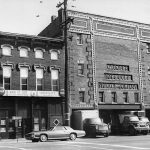 Ice warehouse on Main & Hancock before a devastating fire (See credit below)