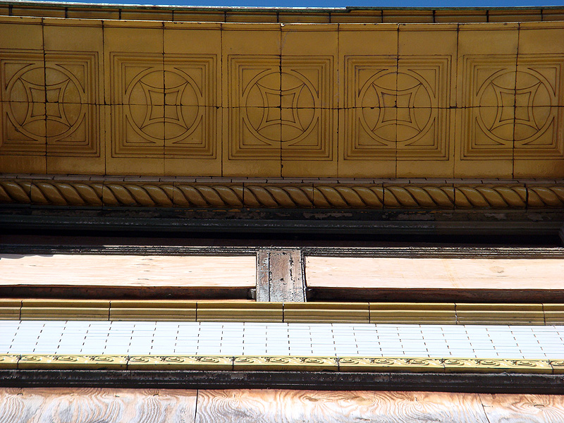 Terra cotta detail on one Iron Quarter building (BS File Photo)