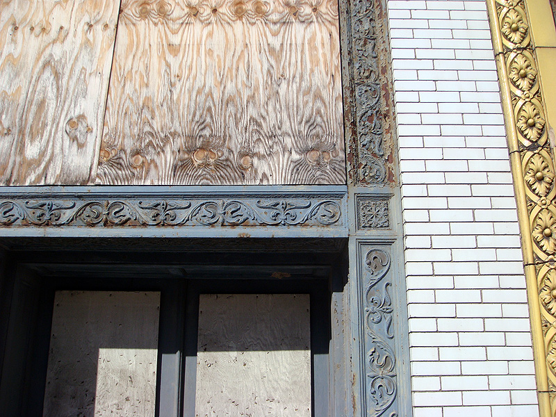 Cast iron detail on one Iron Quarter building (BS FIle Photo)