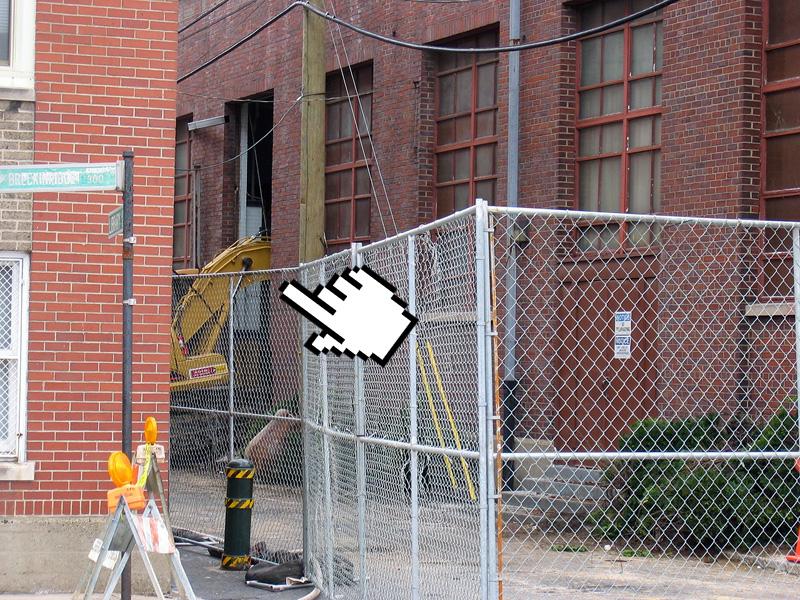 Demolition begins at old Spalding University gym (Photo courtesy tipster)