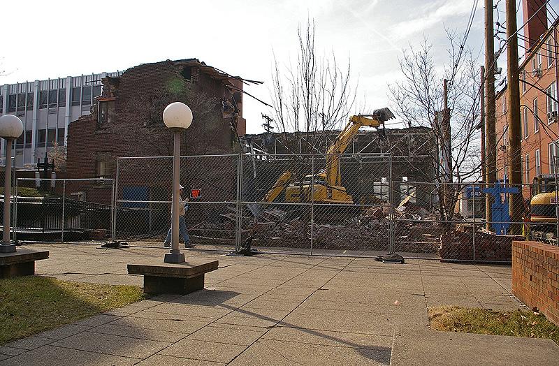 Demolition at Spalding University (Courtesy Tipster)