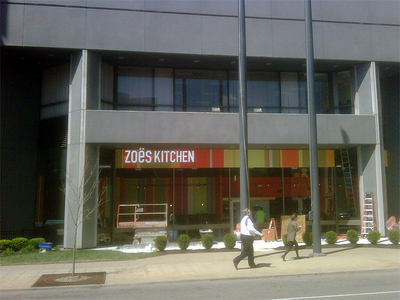 Zoes Kitchen To Open Soon In The Pnc Tower Broken Sidewalk