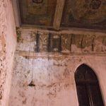 Detail of ceiling with peeling paint (Courtesy Eric Schumacher)