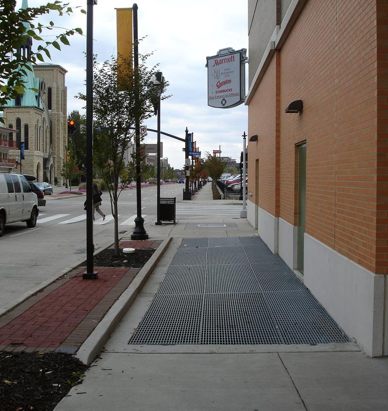 Impassable Sidewalk on Second Street (BS File Photo)