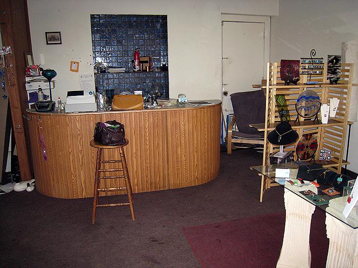 Gallery space under renovation (Courtesy Casey Emrich)