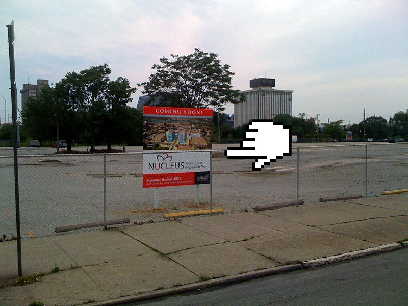 Nucleus sign (Photo courtesy tipster)