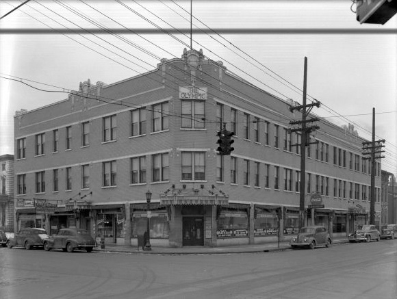 Olympic Apartment Building in 1945 (from U of L Photographic Archives)