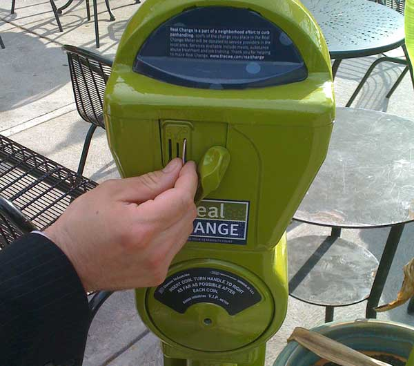 Repurposed parking meter in St. Louis (BS File Photo)