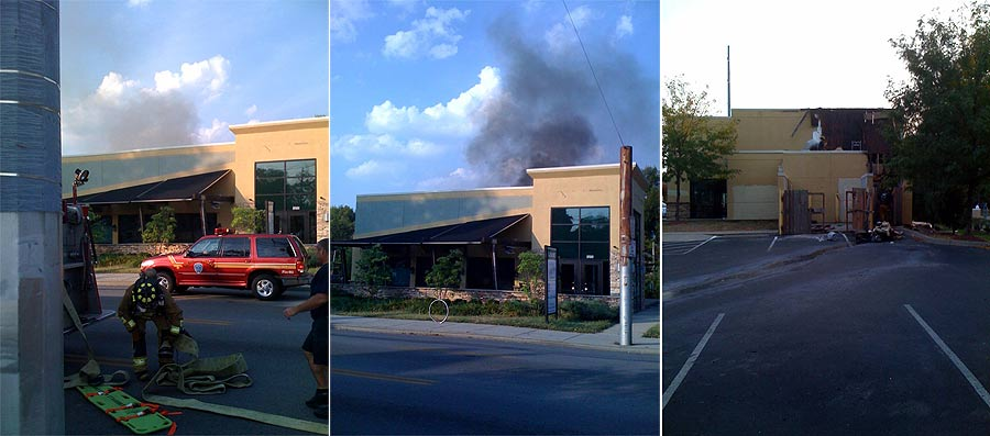 Fire at the vacant Just Fresh building (Courtesy Tipster)