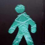 Pedestrian symbol from Rome