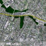 Brownsboro Road Diet in yellow (Map via Lojic)