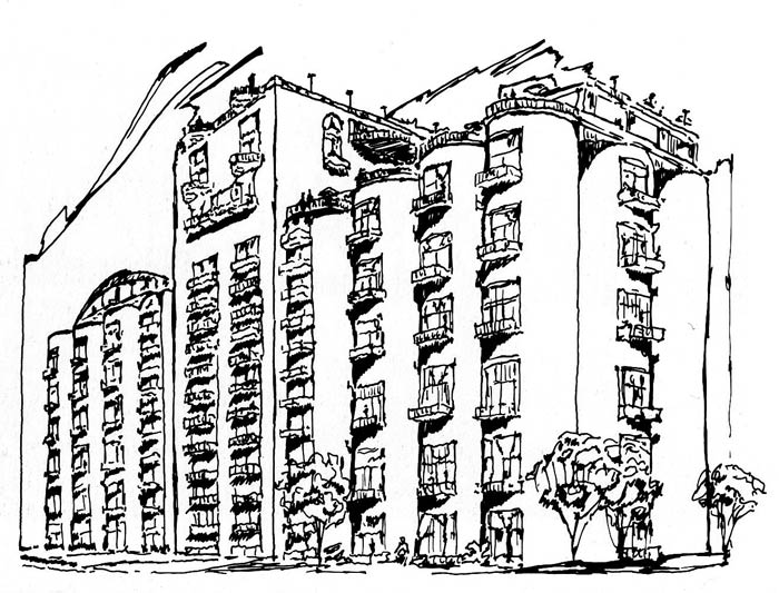 Ballard Mills proposal (Courtesy Unbuilt America)