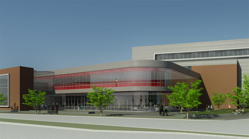 Planned UL Recreation Center (Courtesy University of Louisville)