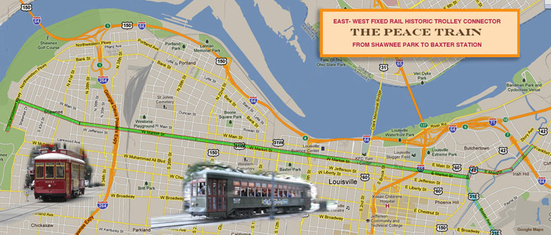 Concept route for a Market Street trolley line. (Courtesy Clarence Hixson/dadwaterjournal.com)