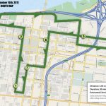Suggested bike route connecting the PARK(ing) Day spots.