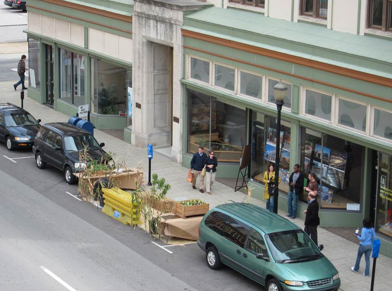 Park(ing) Day at the Urban Design Studio. (Branden Klayko)