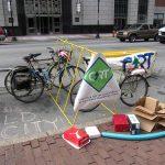 Ample bike parking provided at CART's Park(ing) Day spot. (Branden Klayko)