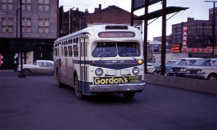 Vintage Buses Of Louisville S Transit Past Broken Sidewalk