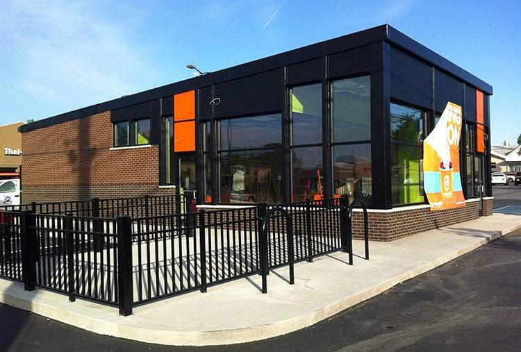 The New Orange Leaf Fro-Yo building. (Courtesy Forza Architecture)