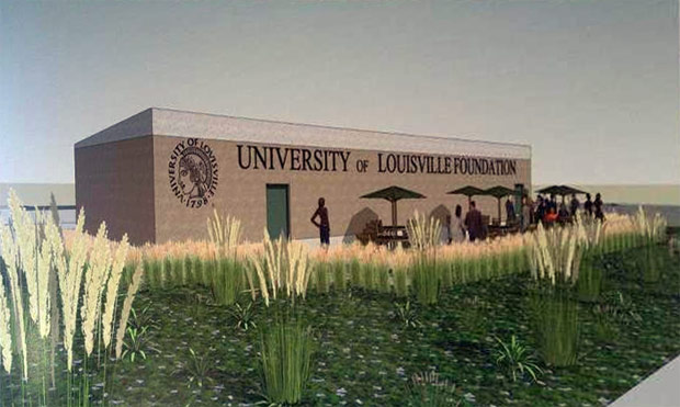 Rendering of the planned green roof. (Courtesy UL/Mayor's Office)