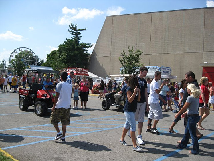 Pedestrian zone at the fairgrounds. (Courtesy Bicycling for Louisville)