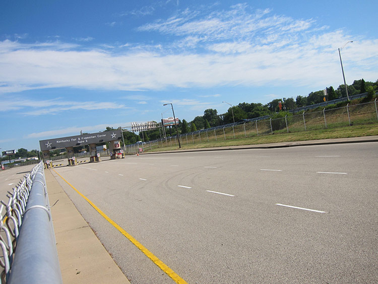 Approaching Gate 6 looking north. (Courtesy Bicycling for Louisville)